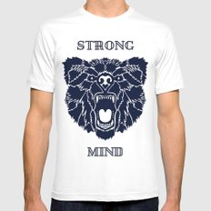 Strong Mind MEDIUM White Mens Fitted Tee