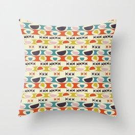 Deviled Eggs Ecru Throw Pillow