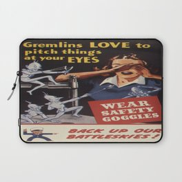 Vintage poster - Workplace safety Laptop Sleeve
