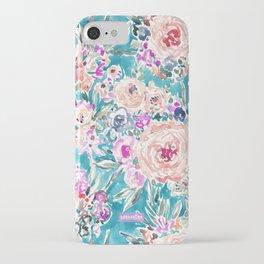 WAHINE WAYS Aqua Tropical Floral iPhone Case