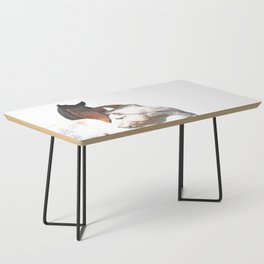 Horses in Love Coffee Table