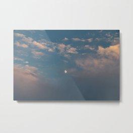 Cotton Candy Skies & Moon Metal Print