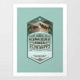 Schweitzer Falls Schnapps Art Print
