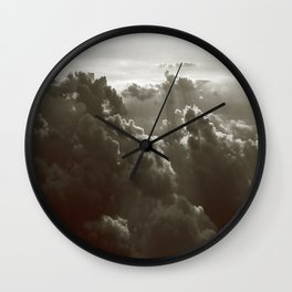 Matthew's Clouds in Black and White Wall Clock