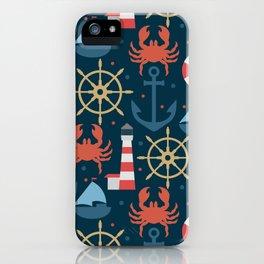 Sea blue pattern iPhone Case