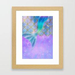 Mermaid Iridescent Shimmer Framed Art Print