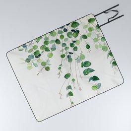 Eucalyptus Watercolor Picnic Blanket