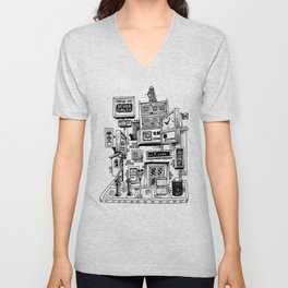 Downtown Brandon Manitoba Unisex V-Neck
