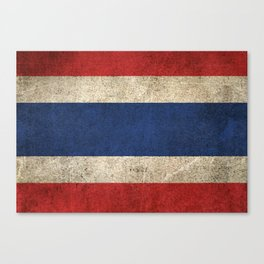 Old and Worn Distressed Vintage Flag of Thailand Canvas Print