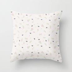 Birds in Purple Throw Pillow