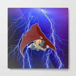 God of Lightning Metal Print
