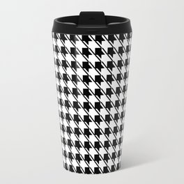 Black White Houndstooth Travel Mug