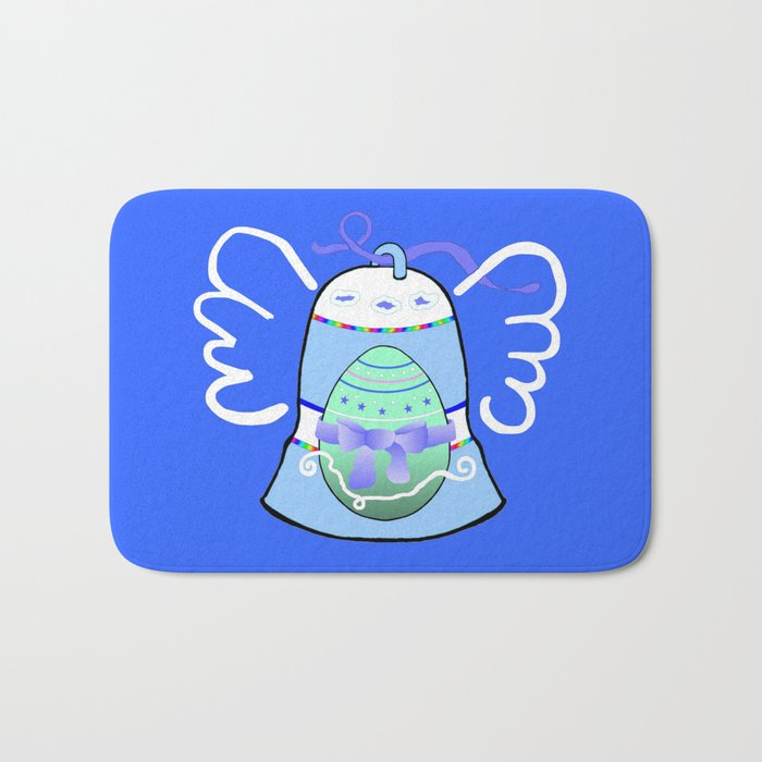 Blue Bell on Blue Bath Mat