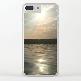 River Sun Clear iPhone Case