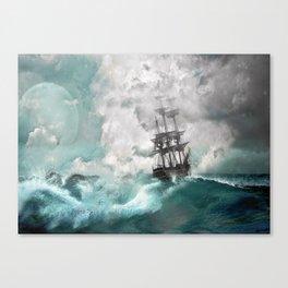 Sailing into a Storm Canvas Print