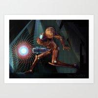 samus Art Prints featuring Samus! by RoboChandler