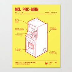 ARCADE CAB - MS. PAC-MAN Canvas Print