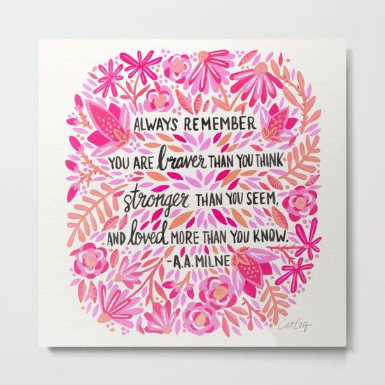 Always Remember – Pink Ombré Palette Metal Print