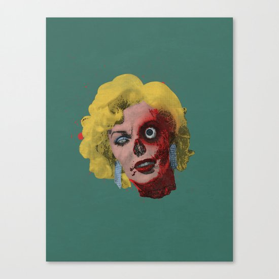 Gentlemen Prefer Zombz Canvas Print