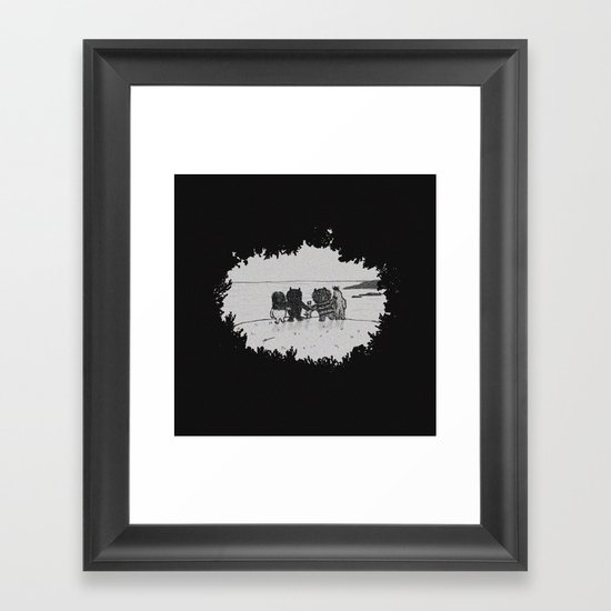 Surrounded By Your Friends Framed Art Print