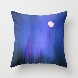 Moonlight in Samosa Throw Pillow