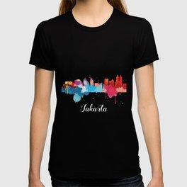 Jakarta Cityscape Watercolor T-shirt