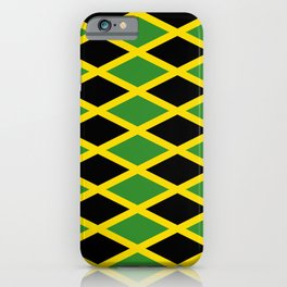 Flag of Jamaica 3-Jamaican,Bob Marley,Reggae,rastafari,cannabis,ganja,america,south america,ragga iPhone Case