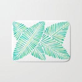 Tropical Banana Leaves – Mint Palette Bath Mat