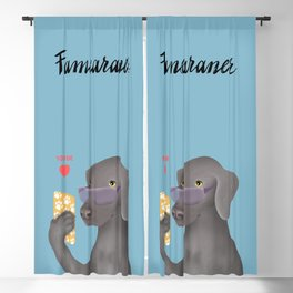 Famearaner (Blue Background) Blackout Curtain
