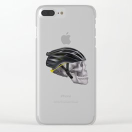 Cyclist Skull Clear iPhone Case