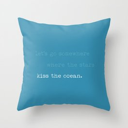 Kiss the Ocean Throw Pillow