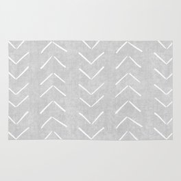 Mudcloth Big Arrows in Grey Rug
