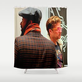 Hey, You Can Wear My Scarf Shower Curtain