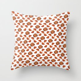 Pups and poppies Throw Pillow