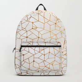 Organic Geometry - Copper and Mother of Pearl Backpack