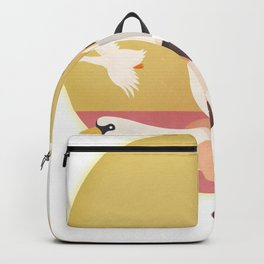 Fly Girl And White Swan Backpack