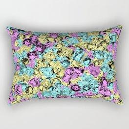 CMYK colors ahegao Rectangular Pillow