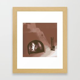 Side Kiva Red Framed Art Print