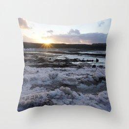 Sunrise on a Glacier- Iceland Throw Pillow