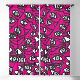 Freddie Eyeballs Fuschia Hot Pink Red Blackout Curtain