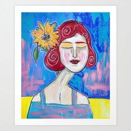 Bryan's Sunflower Art Print