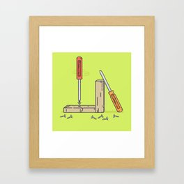 Screw It Framed Art Print