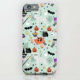 Schnauzer dog breed halloween costumes cute dog gift for fall autumn iPhone Case