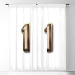 Chocolate Number 1 Blackout Curtain
