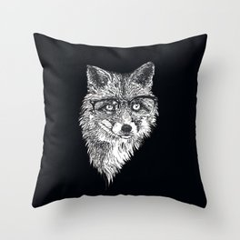 The Fox Professor of Cunning at Oxford University Throw Pillow