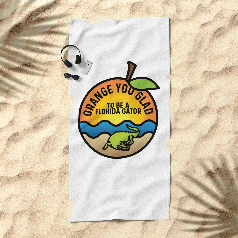 Glad To Be A Florida Gator Beach Towel