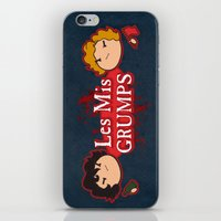 les mis iPhone & iPod Skins featuring Les Mis Grumps by juanjoltaire