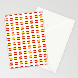 Flag of spain 16 - with soft square Stationery Cards