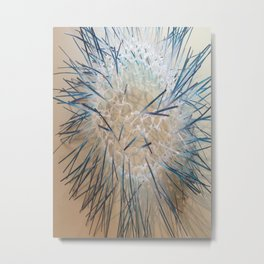 Upcycle series - blue spikey Metal Print