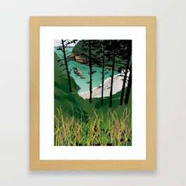 Cape Disappointment Framed Art Print